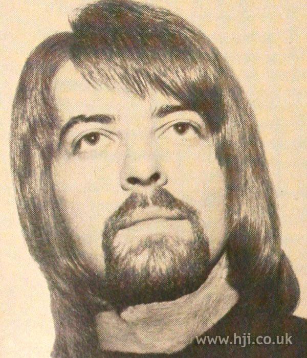 1970s men's long hair with fringe