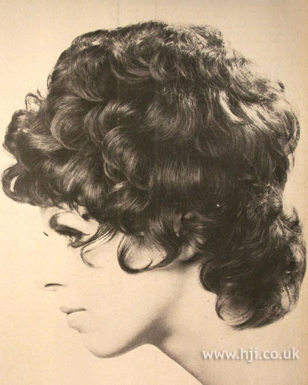 1970s curly bouffant style