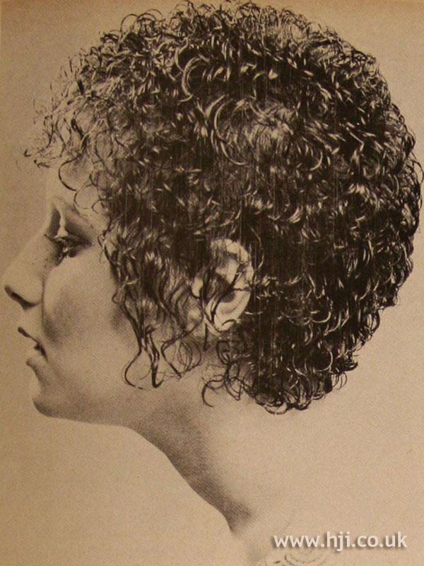 1970s wet-look curly crop