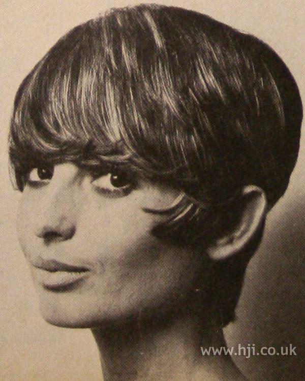 Sleek 1970s bob with full fringe