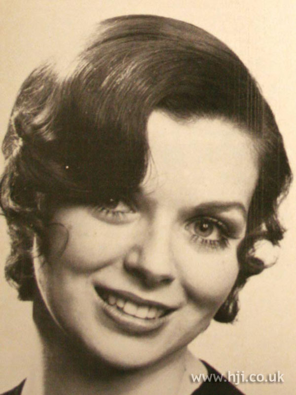 Short waved 1970s hairstyle