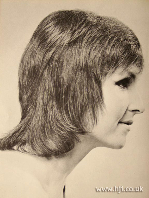 Layered 1970s pageboy cut