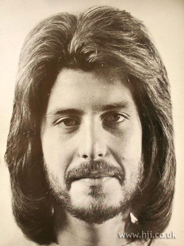 Feathered 1970s men's haircut