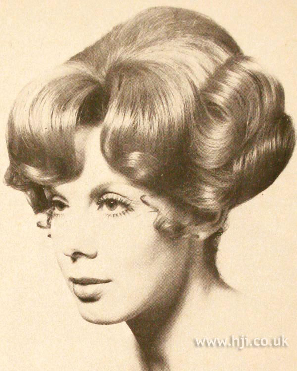 1970s curly blonde updo