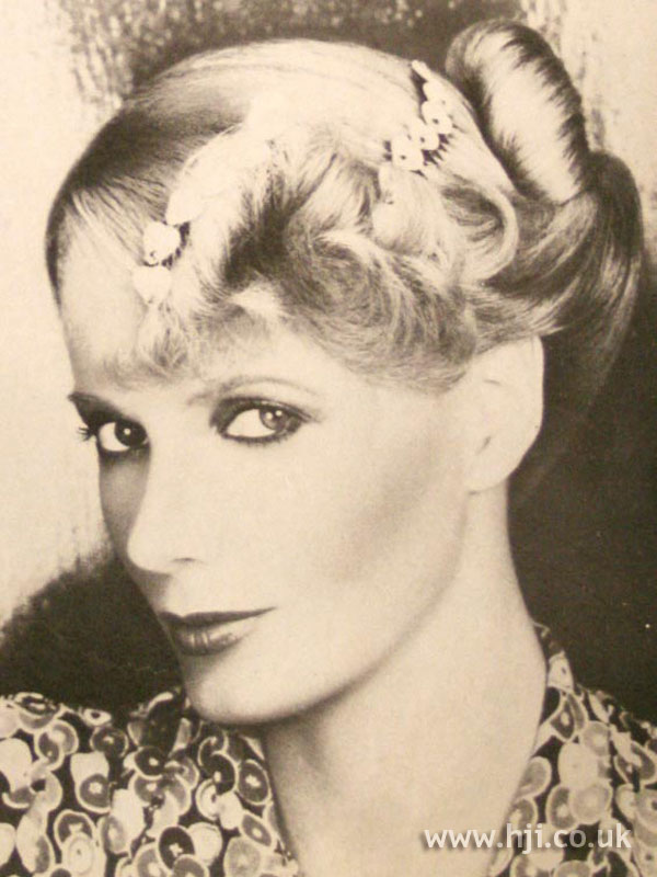 1979 accessory updo hairstyle