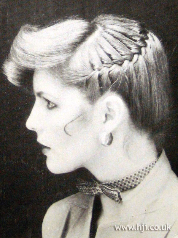 1970s updo with braid detail