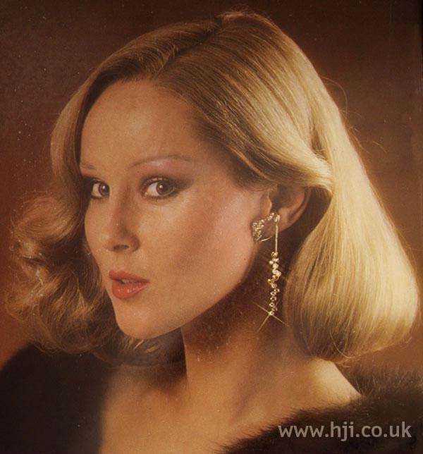 1970s blonde faux bob