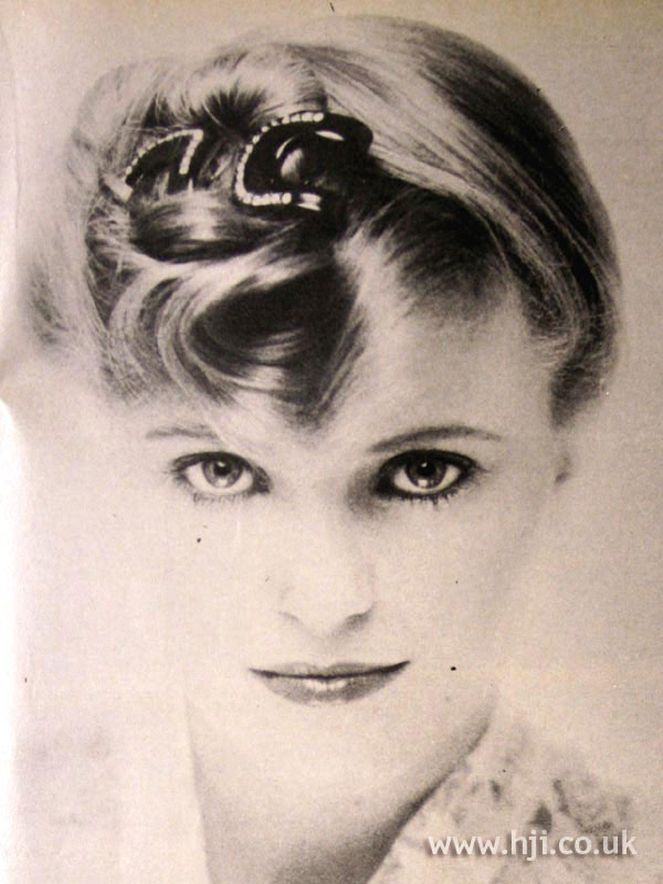 1979 blonde updo with buckle
