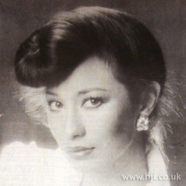 1970s updo with quiff