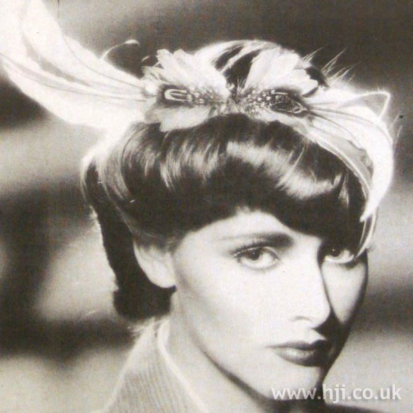 1970s twisted updo with accessory