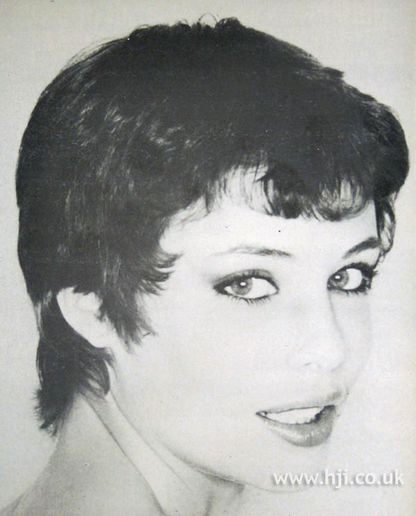 1979 brunette crop hairstyle