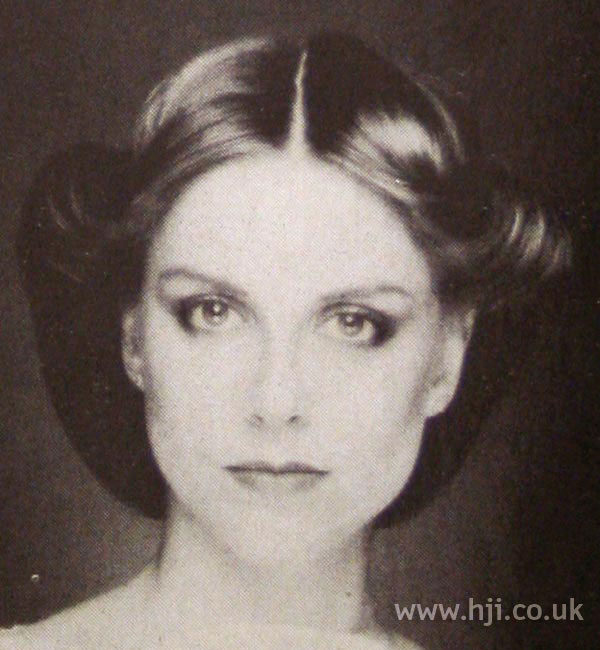 1970s rolled updo