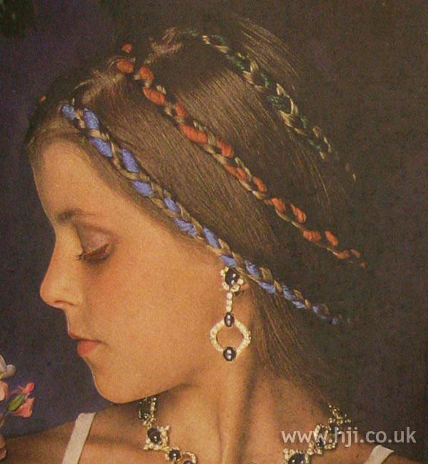 1970s coloured braids