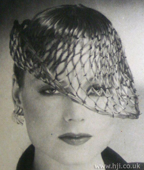 1970s avant-garde style with veil