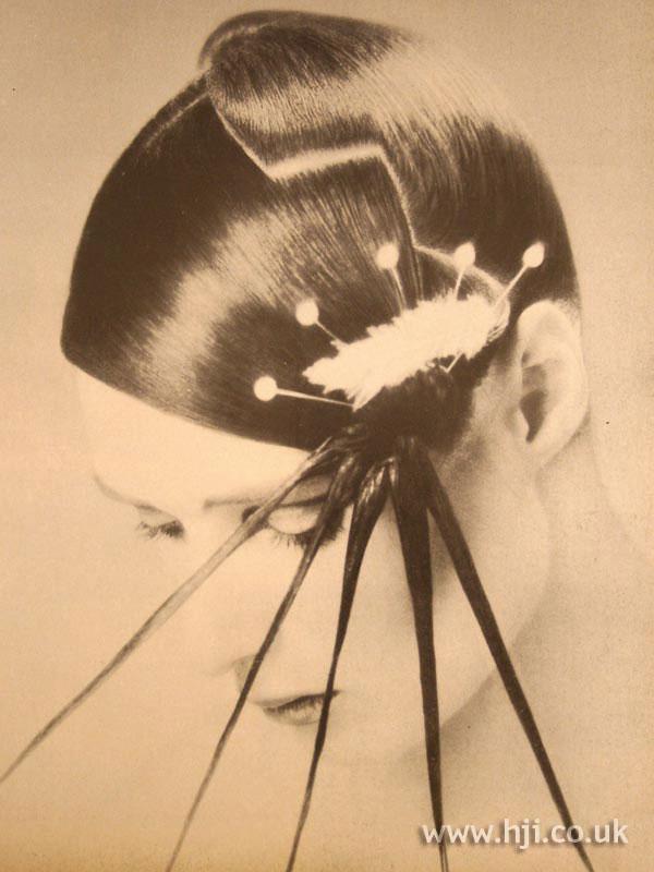 Spiky avant-garde 1970s hairstyle