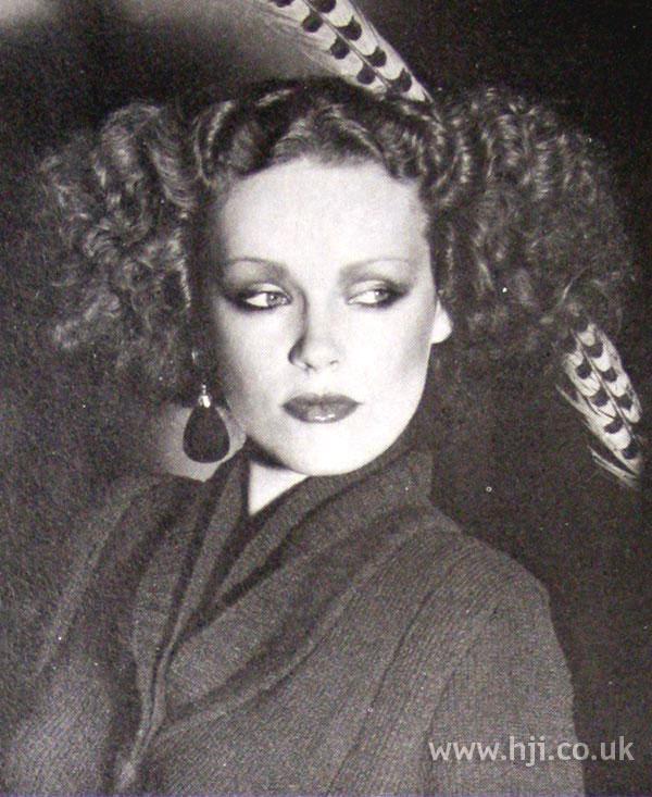 1979 voluminous curly hairstyle