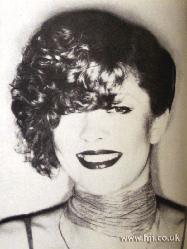 1979 curly updo