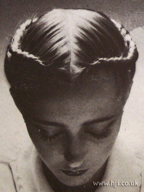 1970s braided updo