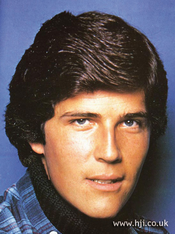 Layered 1970s men's hairstyle
