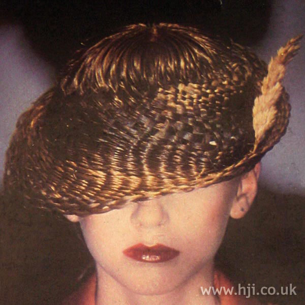 1970s Woven Avant Garde Hairstyle
