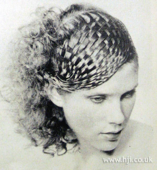 1970s curls with woven fringe detail