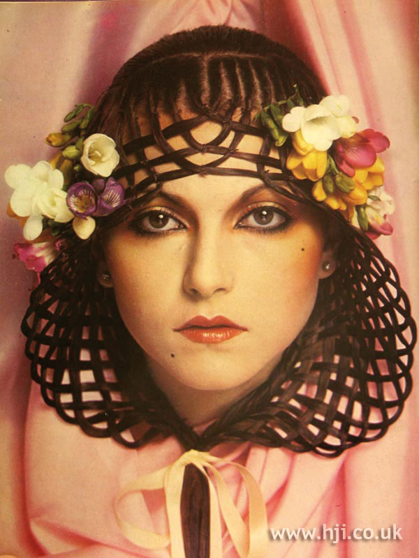 1970s plaited hair veil