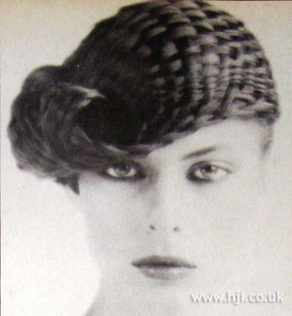 1979 woven hair updo