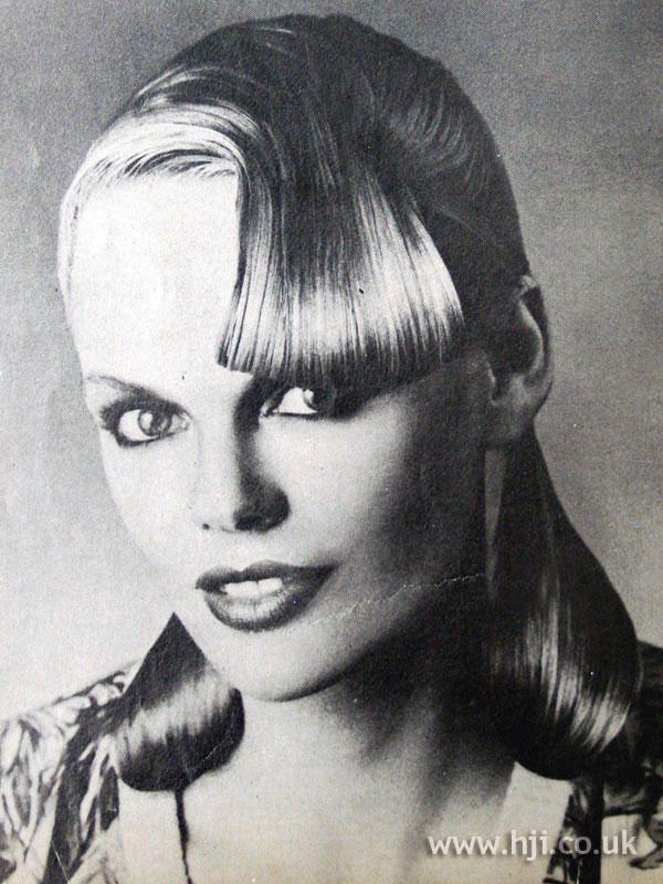 1979 slicked fringe hairstyle