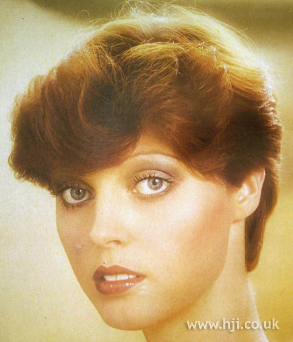 1970s soft updo on red hair
