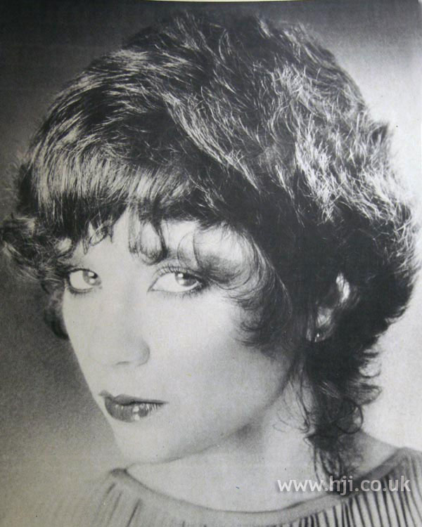 1970s feathered cut with fringe