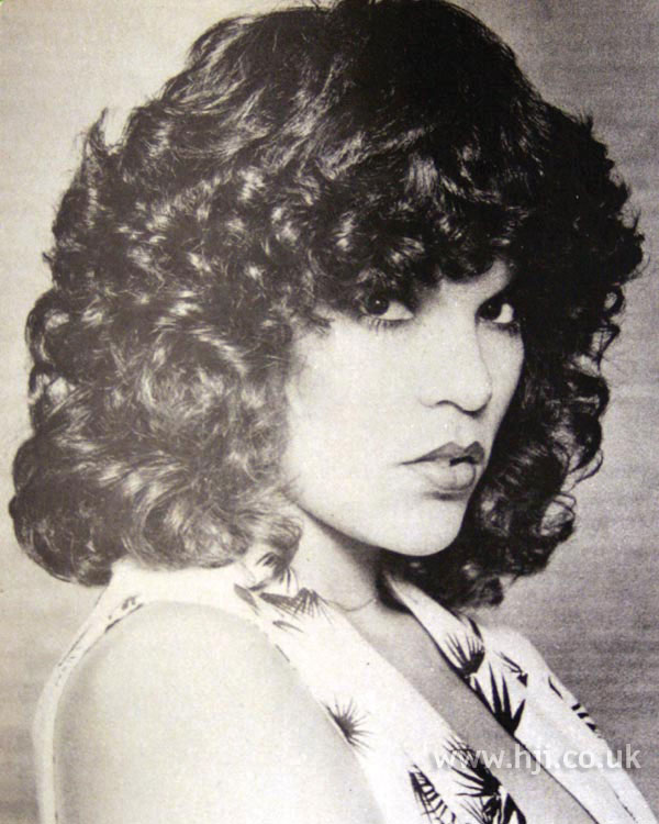 1970s thick glossy curls