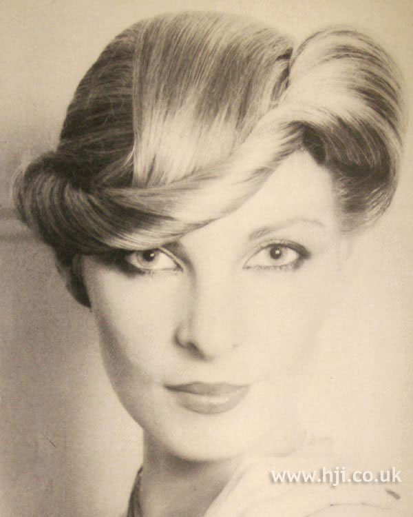 1979 twisting updo hairstyle