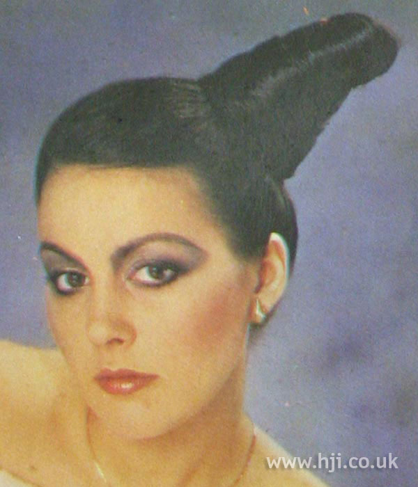 1970s conical updo