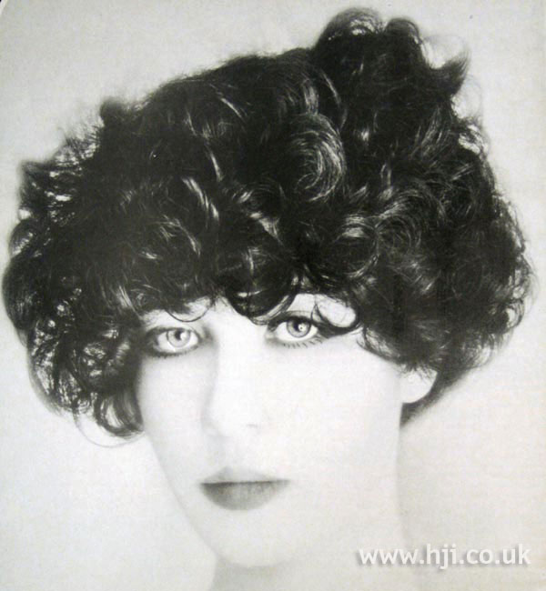 Full 1970s curly hairstyle