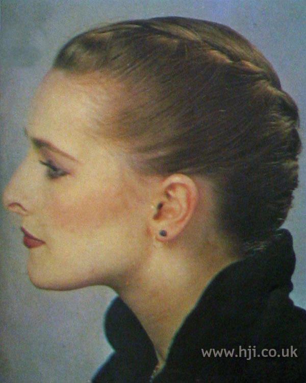 1970s plaited chignon