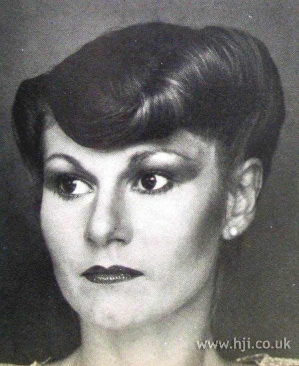 1979 rolled updo hairstyle