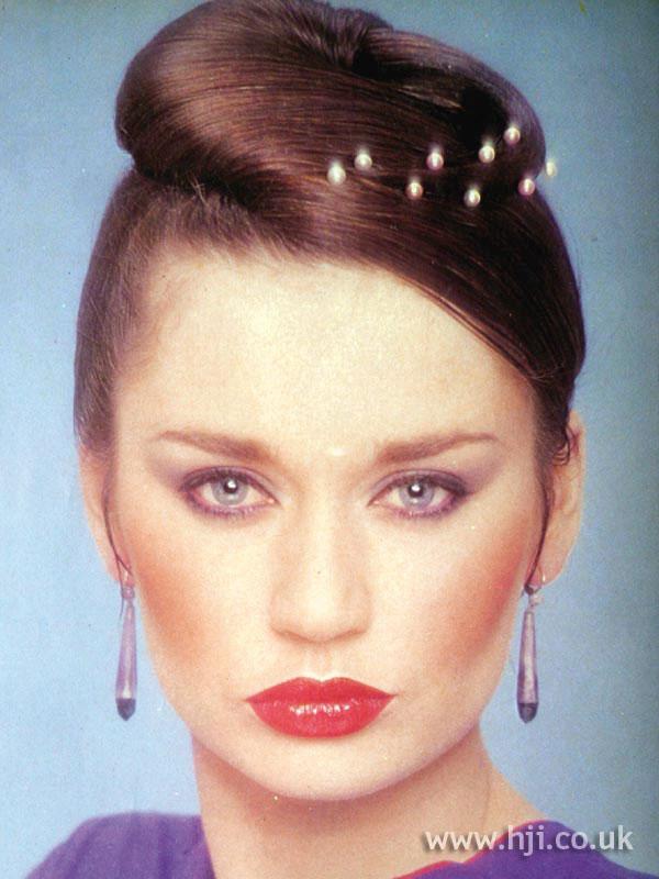 1979 updo swirl hairstyle