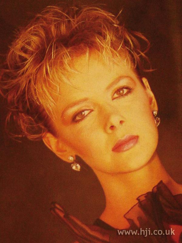 1984 blonde gelled