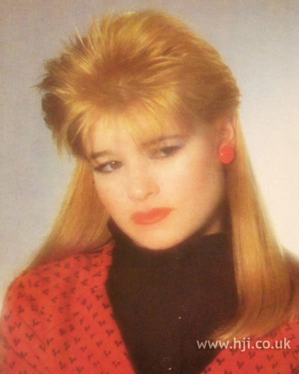 1984 long blonde mullet hairstyle
