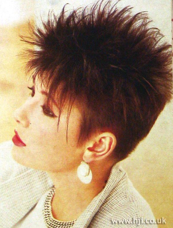1984 brunette crop hairstyle