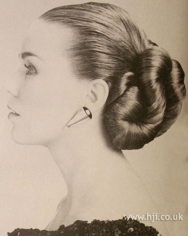 1984 brunette updo hairstyle