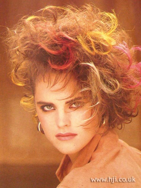 1984 creative perm hairstyle