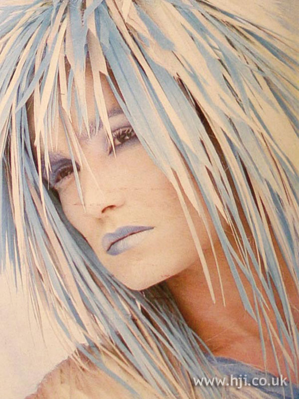 1984 blue and white avant-garde style