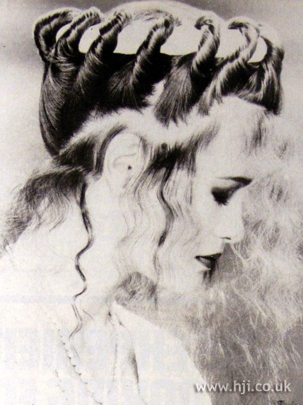 1984 twisted updo hairstyle