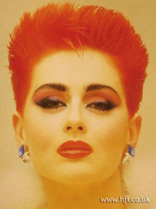 1984 orange cropped hairstyle