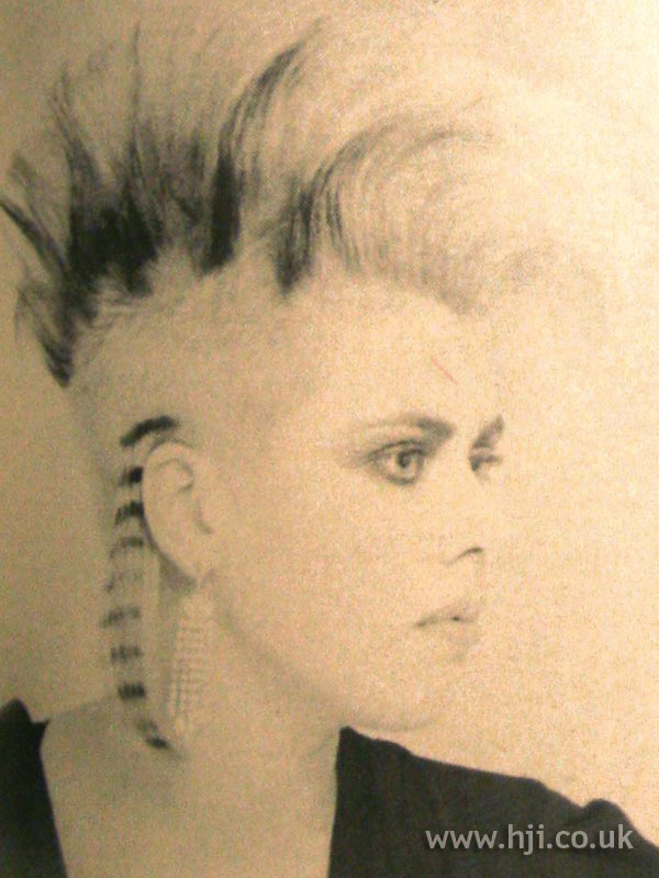 1984 punk quiff hairstyle