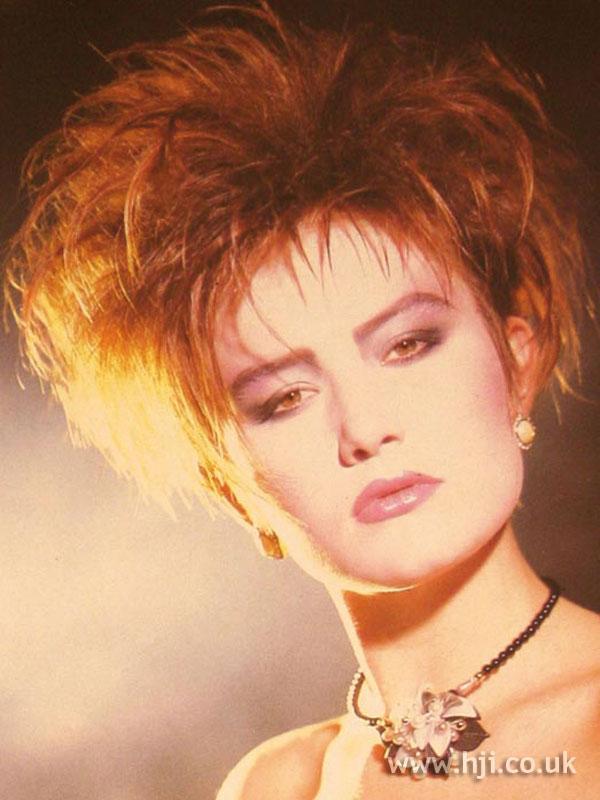 1984 redhead choppy hairstyle