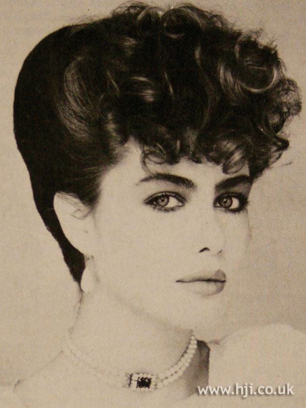 1984 curly quiff hairstyle