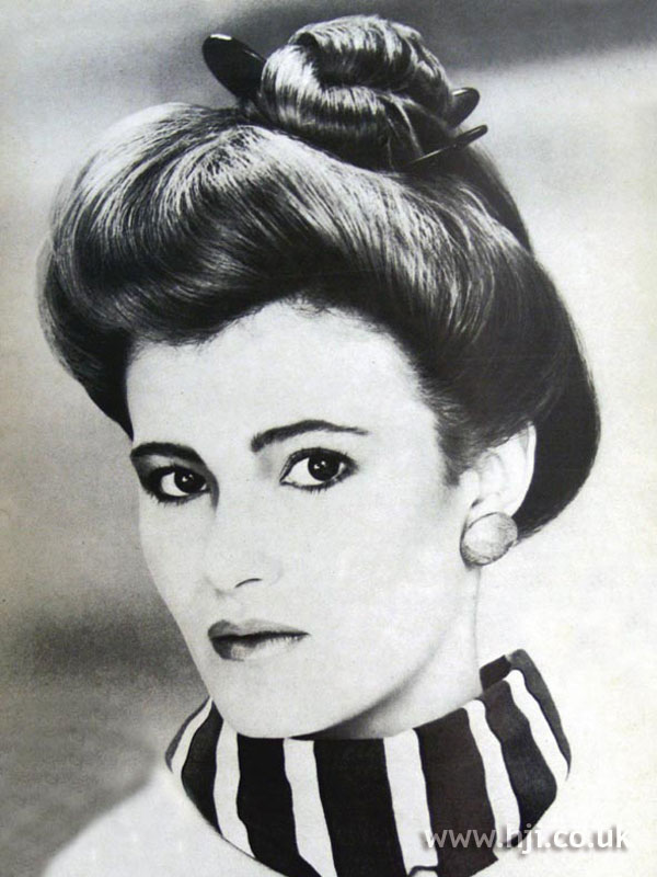 1984 smooth updo hairstyle