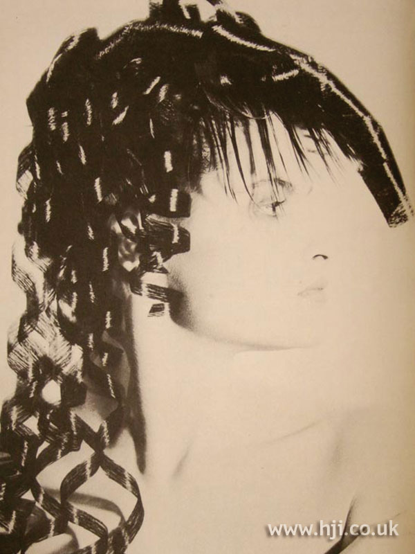 1986 avant garde curly hairstyle